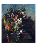 Carnations and Other Flowers with Parrots on a Pedestal Posters by George Wesley Bellows