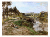 On the Banks of the Marne, 1904 Giclee Print by William Bradford