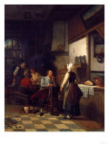 In the Tavern, 1876 Giclee Print by Eug&#232;ne Boudin