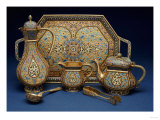 A Six Piece Enamel Silver Gilt Tea and Coffee Service, 1899-1908 Giclee Print by Louis Cartier