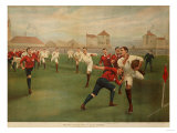 A Rare Print of England V. Wales. January 5th 1895 at Swansea Giclee Print