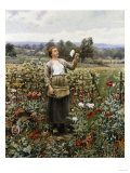 The Flower Girl Giclee Print by Henry Thomas Alken