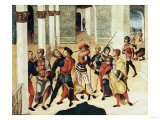 A Cassone Panel: the Death of Smerdis Print by Giovanni Battista Benvenuti