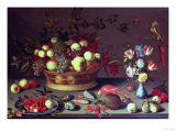 A Basket of Grapes and Other Fruit Giclee Print by Carl Frederic Aagaard