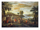 A River Landscape with Festivities and Numerous Figures Giclee Print by Hendrik Avercamp