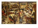The Payment of the Tithe, 1619 Giclee Print by Herri Met De Bles