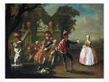 Ladies and Gentlemen Feasting by a Fountain, 1745 Giclee Print by Alfred Thompson Bricher