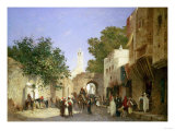 An Arab Street Scene, 1872 Prints by Sir William Beechey
