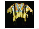 A Southern Cheyenne Quilled and Fringed Hide Warrior's Shirt Giclee Print
