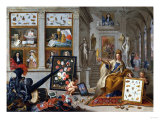 An Allegory of Europe, Oil on Copper, 1670 Giclee Print by Jan Brueghel the Elder