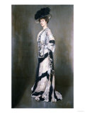 Portrait of an Elegant Woman, Full Length Giclee Print by Thomas Birch