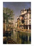 A Canal Scene in Venice Giclée-tryk af Cristofano Allori