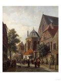A Dutch Street Scene, 1867 Posters by Leon Bakst