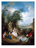 A Rural Celebration; a Fete Champetre Giclee Print by Jan Brueghel the Elder