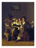 Elegant Figures Drinking and Merrymaking in an Interior, 1653 Posters by Vincente Carducho