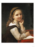 A Good Book, 1868 Reproduction procédé giclée par William Adolphe Bouguereau