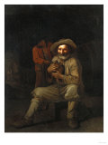 A Peasant Holding a Wine Jug with a Young Boy at His Shoulder Giclee Print by Giovanni Battista Benvenuti