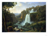 The Falls of Tivoli, 1822 Reproduction proc&#233;d&#233; gicl&#233;e par Jan Brueghel the Elder
