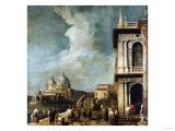 The Entrance to the Grand Canal, Venice, from the Piazetta Giclee Print by Herri Met De Bles
