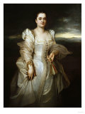 Portrait of a Lady, Wearing a White Dress Embroidered with Pearls Premium Giclee Print by Joseph Bail