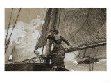 Yachting Girl Giclee Print by Filipo Or Frederico Bartolini