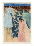 Gathering Fruit, Circa 1893 Print by Mary Cassatt