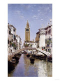 A Canal Scene, Venice Giclee Print by Cleofas Almanza