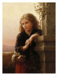The Peasant Girl, 1875 Giclée-tryk af Alfred Thompson Bricher