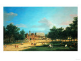 London: the Old Horse Guards and the Banqueting Hall, Whitehall, from Saint James's Park, 1749 Premium Giclee Print by Sir Lawrence Alma-Tadema