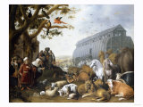 The Animals Entering Noah's Ark, 1650 Giclee Print by Giovanni Battista Benvenuti