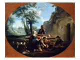 Peasants Feasting in the Roman Campagna Giclee Print by Vincente Carducho