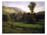 Cottage in a Landscape, Circa 1871 Giclee Print by Jean-Baptiste-Camille Corot
