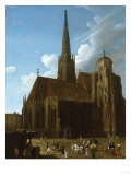 View of St. Stephens Cathedral, Vienna Posters by Eugène Boudin