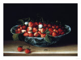 A Bowl of Strawberries Giclee Print by Hendrik Avercamp