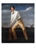 A Cricketer at the Crease Prints by John Brett