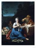 A Peasant Family Giclee Print by Emilio Boggio