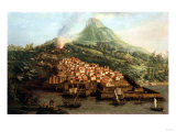 A Volcanic Island with a Harbour and Shipping, and Guiseppe Guerra (Active, 1740-1761) Giclee Print by Canaletto