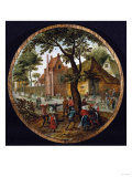 Peasants Dancing Round a Tree in a Village Street, 1625 Giclee Print by Hendrik Avercamp