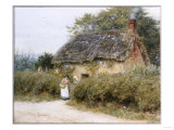 A Thatched Cottage Near Peaslake, Surrey Prints by Helen Allingham