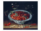 A Bowl of Strawberries Premium Giclee Print by Joseph Bail