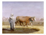 Treading out Wheat in Egypt Giclee Print by Joseph Bail
