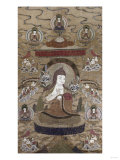A Sino Tibetan Silk Embroidered Silk Thang.Ka Depicting Tsong.Kha.Pa, Circa 1800 Posters