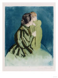Peasant Mother and Child, Drypoint and Aquatint in Colors, Circa 1894 Prints by Mary Cassatt