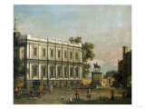 A Capriccio of Buildings in Whitehall, Circa 1754 Posters by Herri Met De Bles