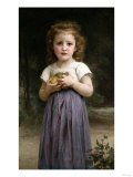 Little Girl Clutching Apples, 1895 Plakat af Cristofano Allori