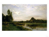 Banks of the Oise, 1875 Giclee Print by Thomas Birch