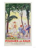 Pougues Les Eaux, Plm, 1935 Giclee Print by Leon Benigni