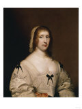 Portrait of Lady Wilhemina Shelley, Half Length, in a White Dress and Cap, 1633 Art by Giovanni Battista Benvenuti