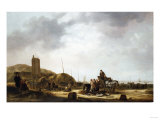 Fishermen Displaying Their Catch on a Beach, 1648 Giclee Print by Vincente Carducho