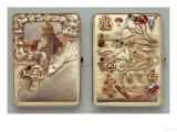 Two Silver and Enamel Cigarette Cases, the Other with Swimming Frogs, Both 1908-1917 Poster